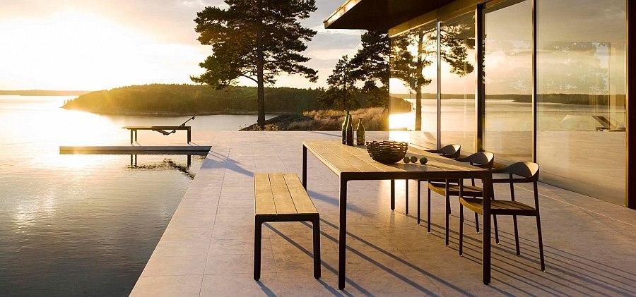 sleek modern outdoor furniture outdoor ideas