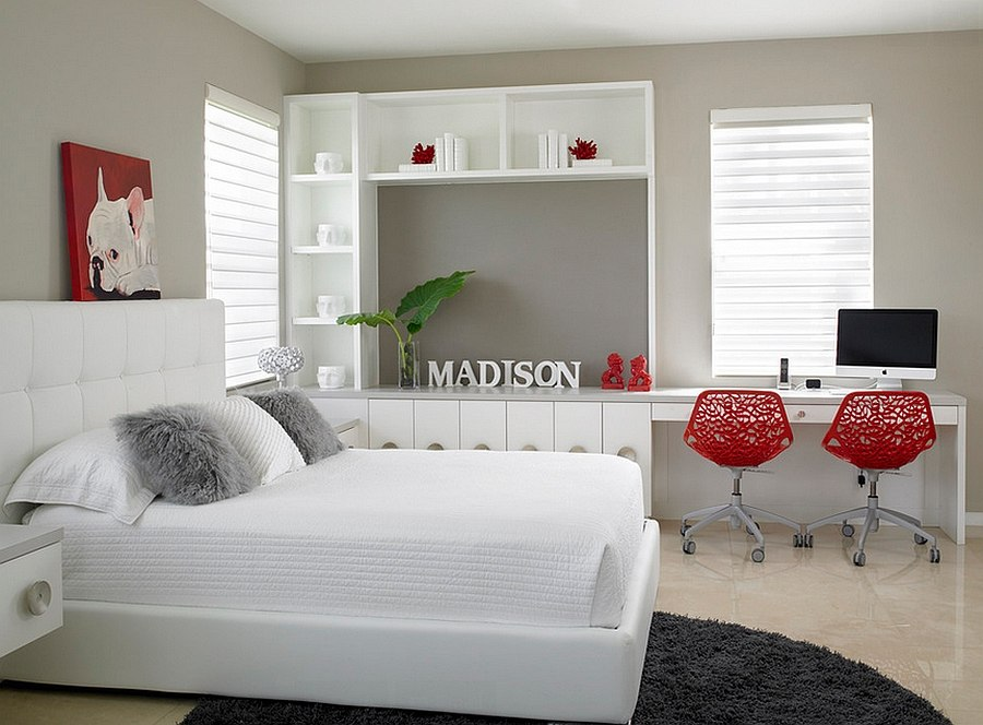 Polished passion 19 dashing bedrooms in red and gray - Black white and red bedroom decorating ideas ...