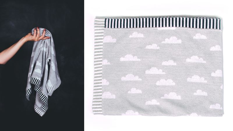Cloud-patterned throw from Baba Souk