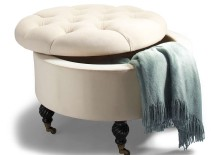 Collette Tufted Storage Ottoman Cream