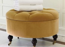 Collette Tufted Storage Ottoman Olive