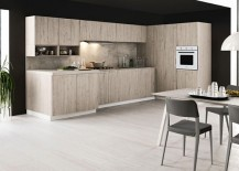 Combine dark and light tones to shape an elegant contemporary kitchen