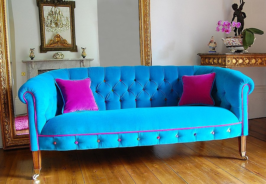 Chic living room decorating trends to watch out for in 2015 for Blue couches for sale