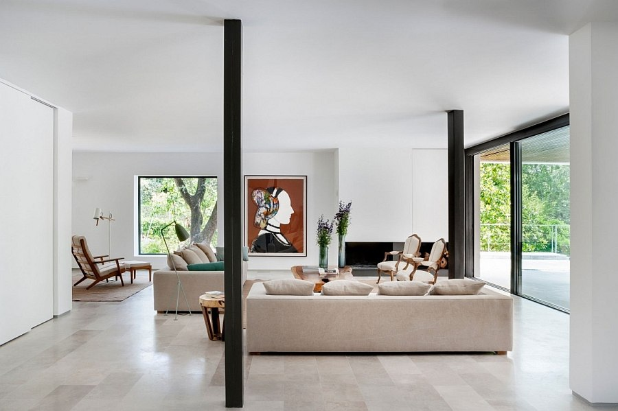 Contemporary interior of the house with a cheerful ambiance
