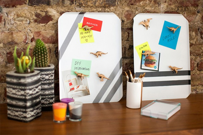 Cookie Sheet Memo Boards Make Work Slightly More Bearable with These Fun Cubicle Decor Ideas