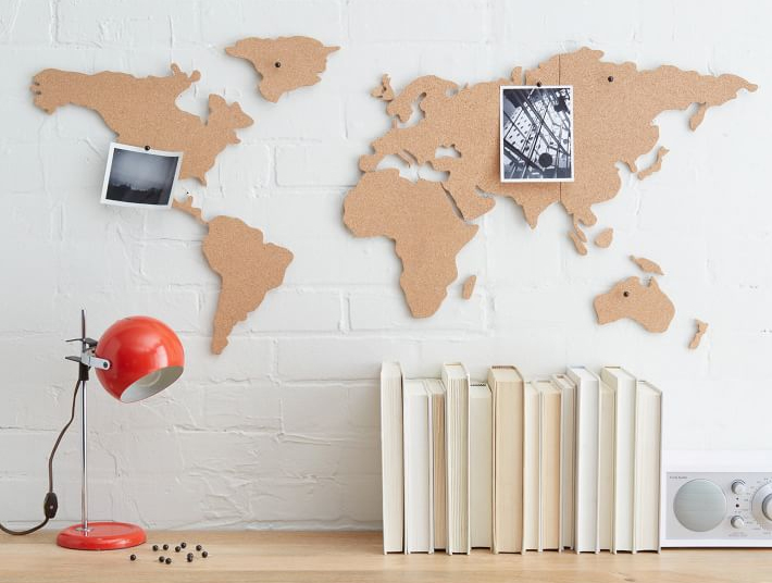 Corkboard Map from West Elm