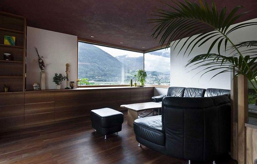 Corner window brings natural light indoors