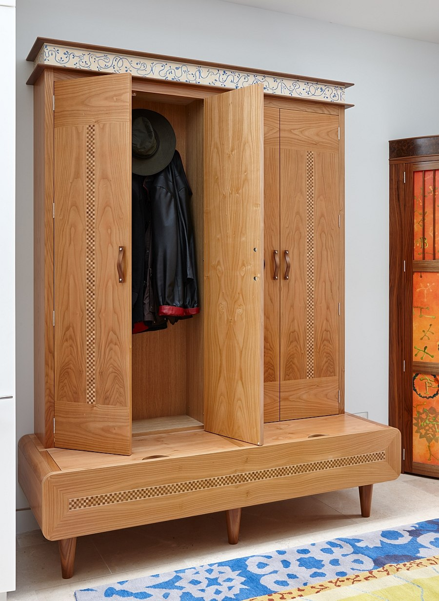 Creative cabinet also doubles as the perfect coat rack!