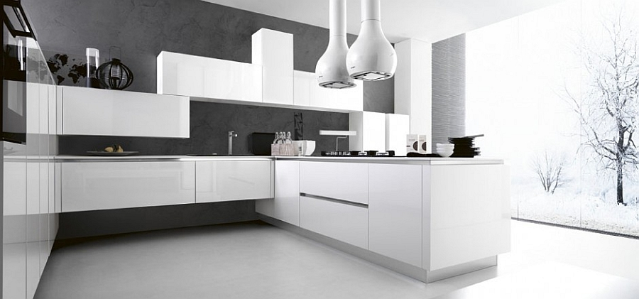 11 Inspired Contemporary Kitchens With Compositional Freedom - Modern-designer-kitchens-plans