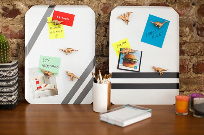 DIY Cookie Sheet Memo Boards