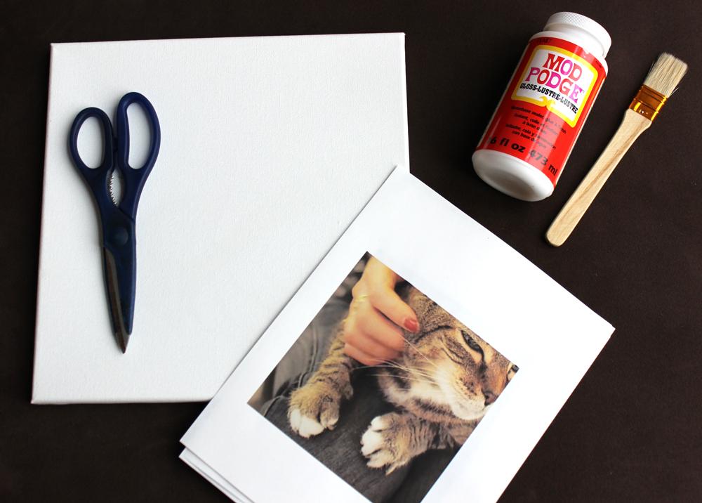 DIY Photo Canvas Art Materials