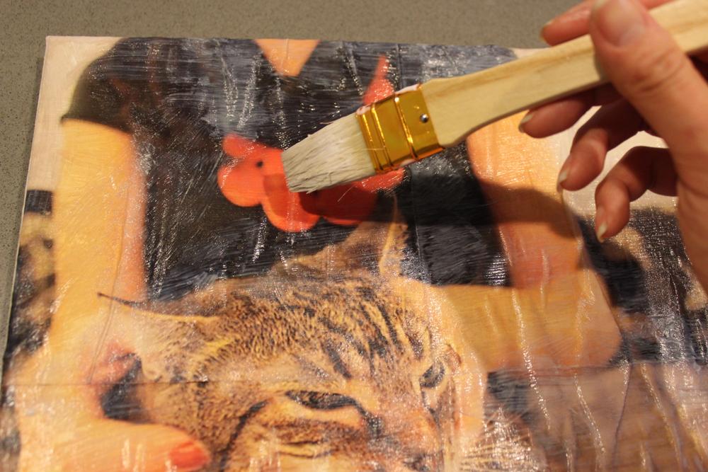 DIY Photo Canvas Art Step 7