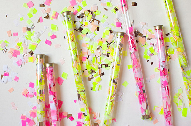 DIY confetti throwers from Oh Happy Day