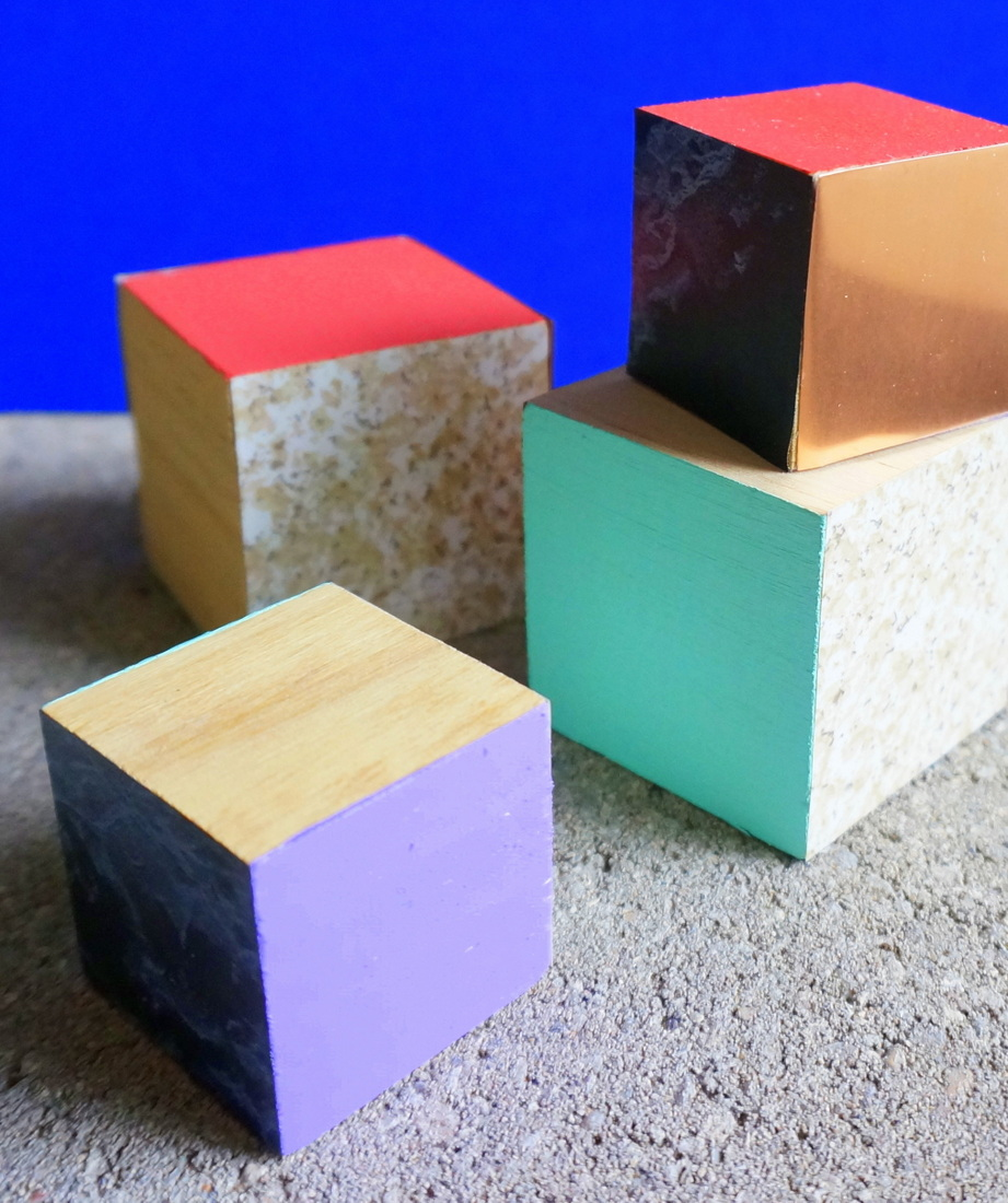 DIY mixed materials blocks