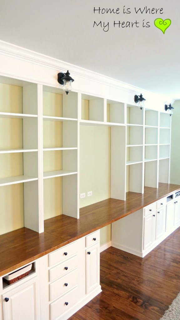 Desk with Built In Bookcases