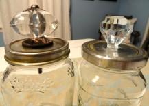 Doorknob Topped Storage Jars