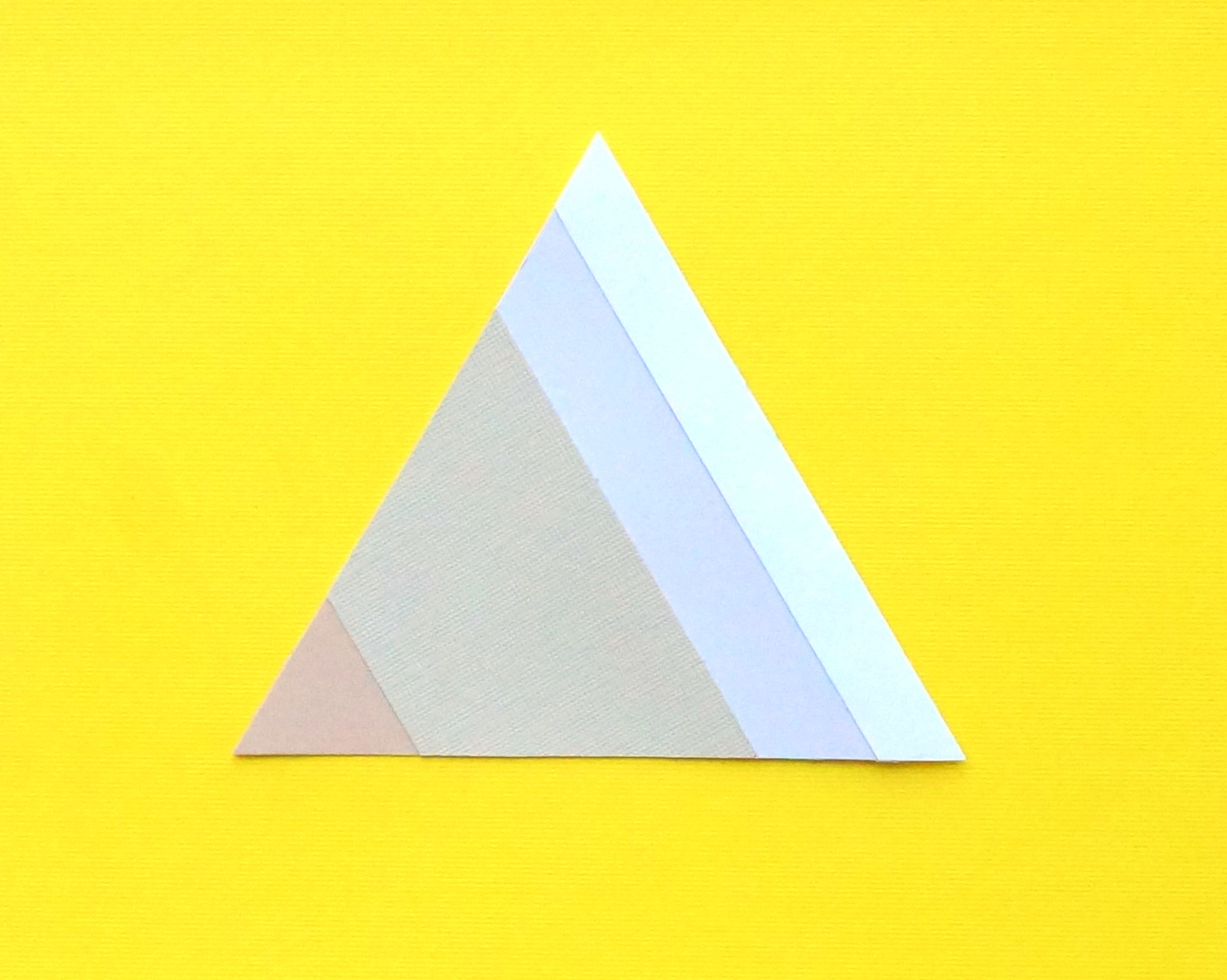 Easy DIY paper triangle art
