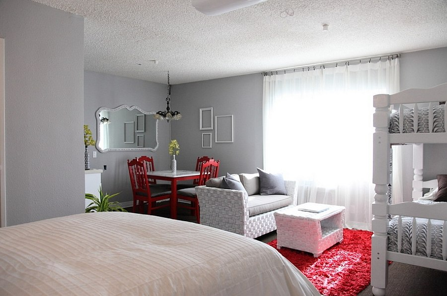 Polished Passion Dashing Bedrooms In Red And Gray