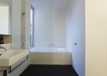 Elegant modern bathroom in white