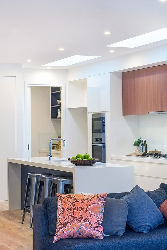 Ergonomic kitchen seems like a natural extension of the living area
