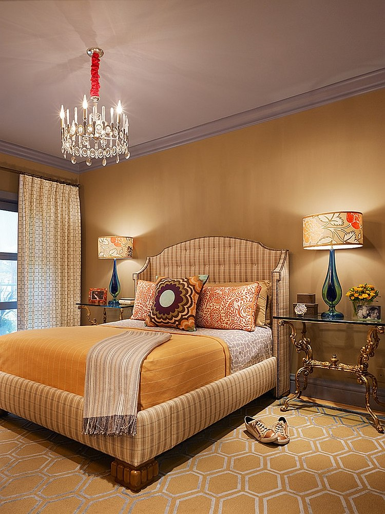 Exquisite bedroom in yellow exudes opulence [Design: Jeffers Design Group]