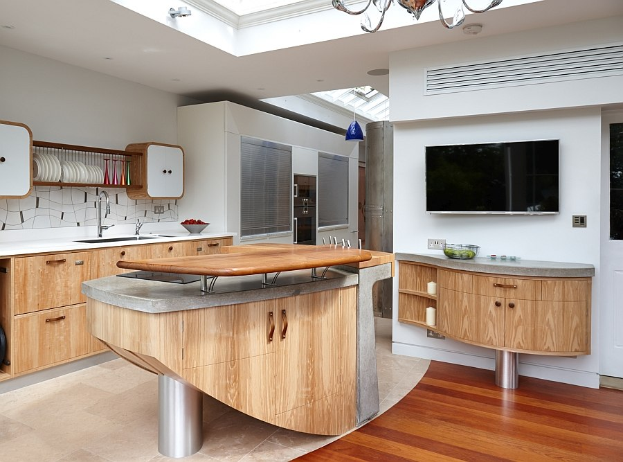Exqusite hand-crafted kitchen island moves away from the mundane