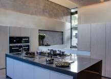 Fabulous contemporary kitchen in varying shades of gray