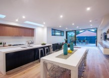 Fabulous kitchen and living area that open up towards the courtyard