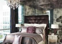 Fabulous modern bedroom showcases urban glam