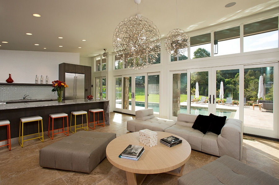Fabulous pendant is perfect for large rooms with high ceilings [Design: KohlMark Architects and Builders]