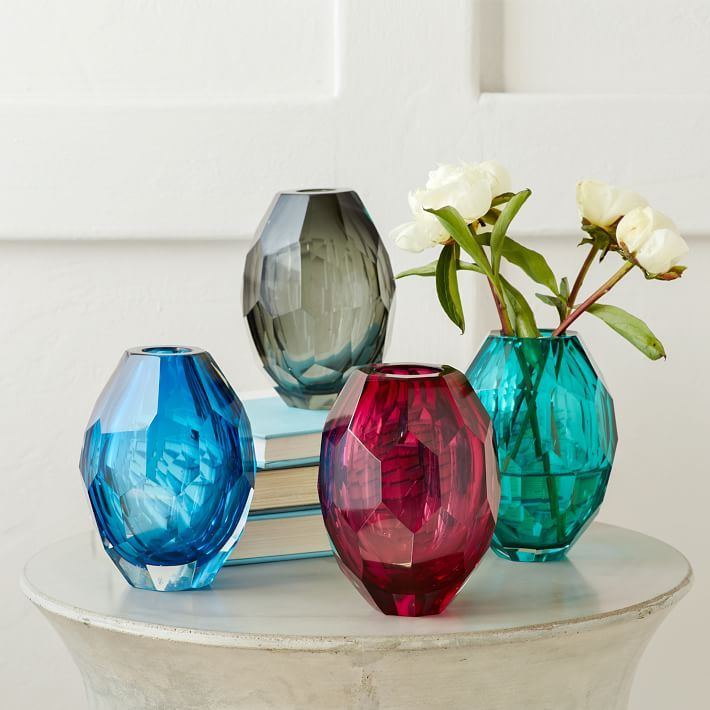 Faceted vases from West Elm