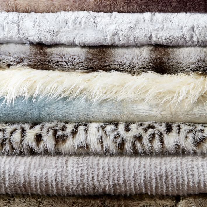 Faux fur throws from West Elm