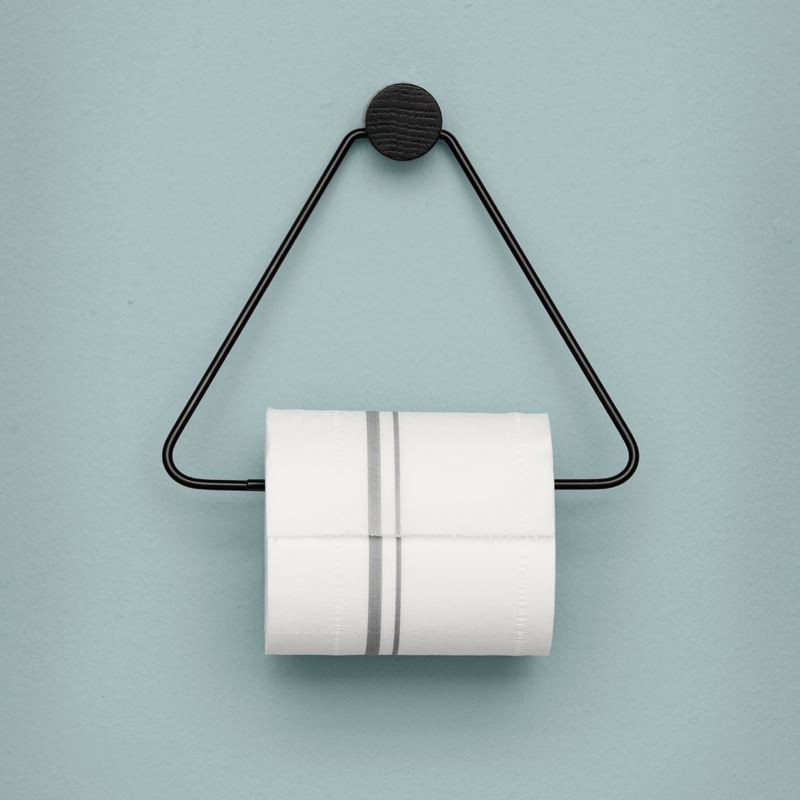 Ferm Living's Black Toilet Paper Holder