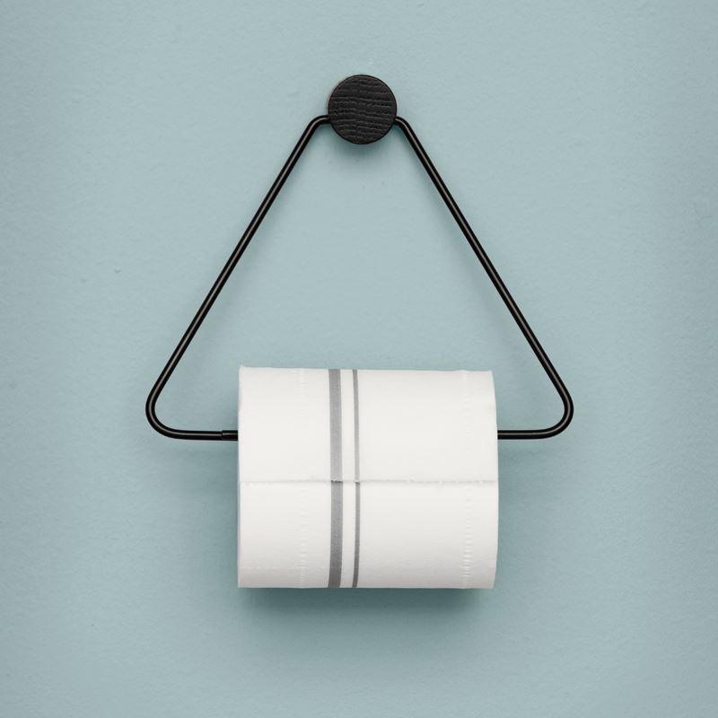 Ferm Living's Black Toilet Paper Holder