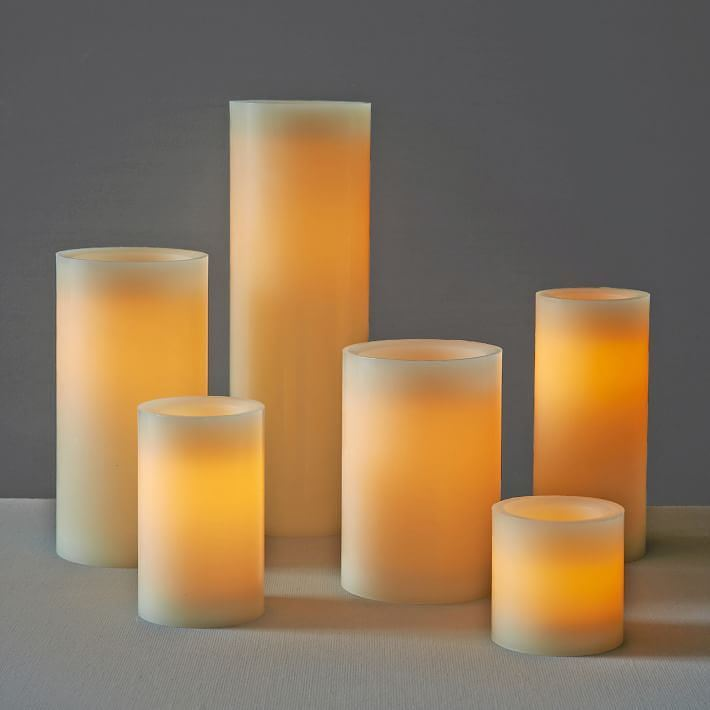 Flameless candles from West Elm