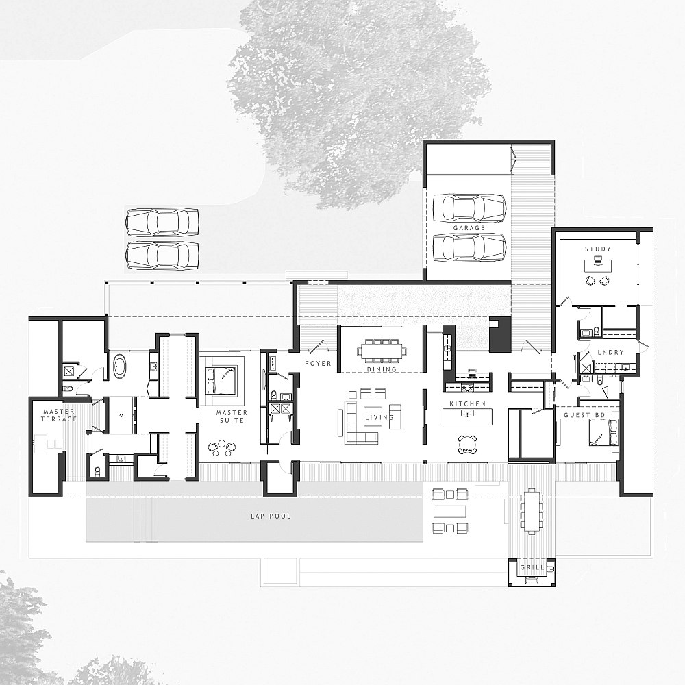 Contemporary Lakefront Home Plans