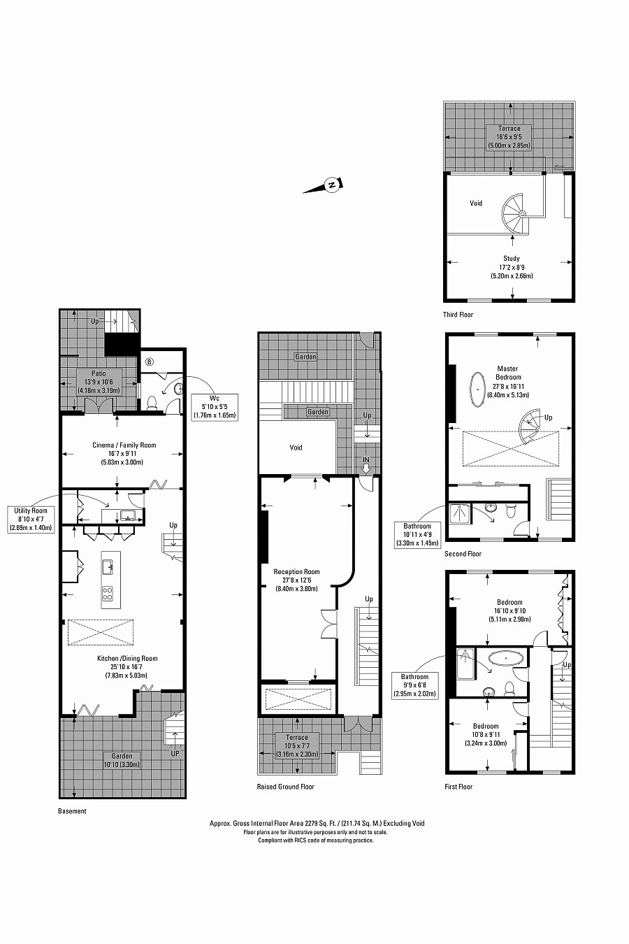 Floor plan of the remodeled Victorian mid-terraced house in London