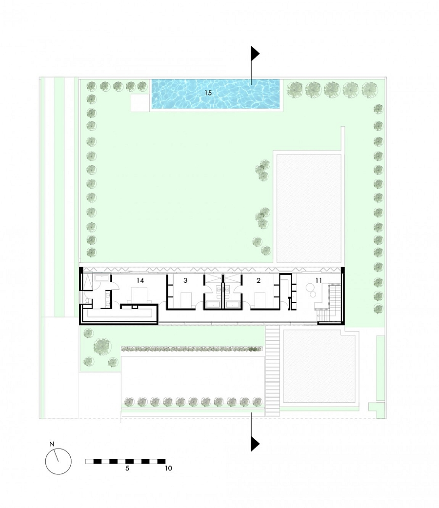 Floor plan of the second level of House 01 in South Africa