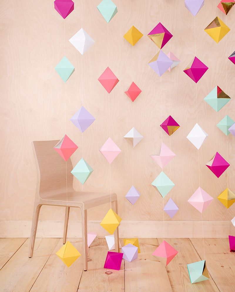 ... paper shapes from Thuss Farrell The Top Trends in Party Decorations