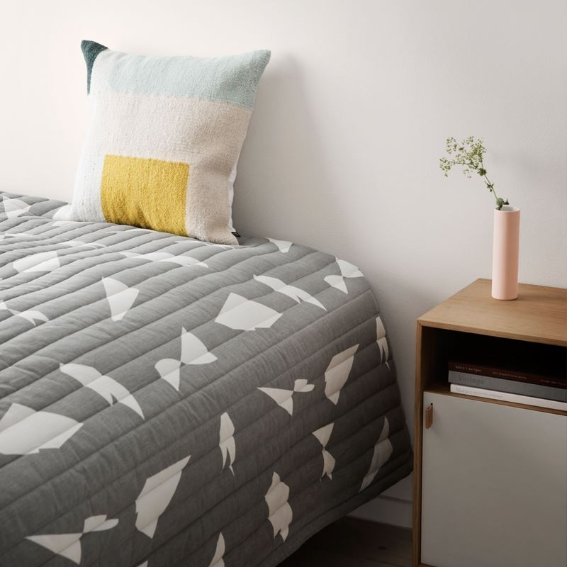 Geometric bed cover from Ferm Living and Alyson Fox