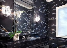 Give the black bathroom a fun new twist!