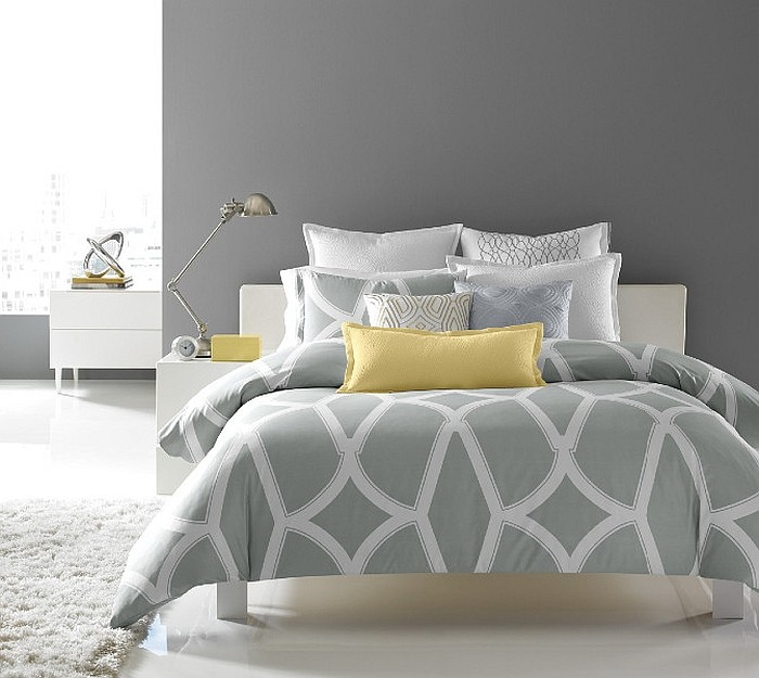 Charming Yellow Gray And White Bedroom Ideas Part - 5: ... Give Your Bedroom A Relaxing Ambiance With Gray [Design: Hotel  Collection]