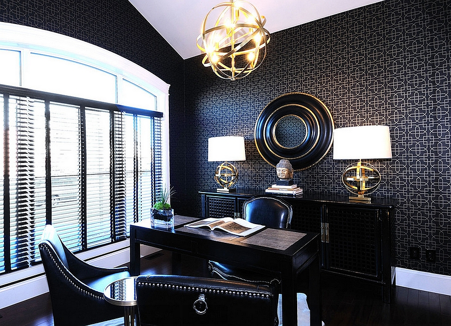 Give your contemporary home office a subtle Asian flair [Design: Atmosphere Interior Design]