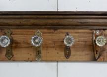 Glass Door Knob Coat Rack