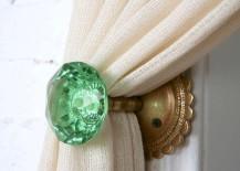 Glass Doorknob Curtain Tieback
