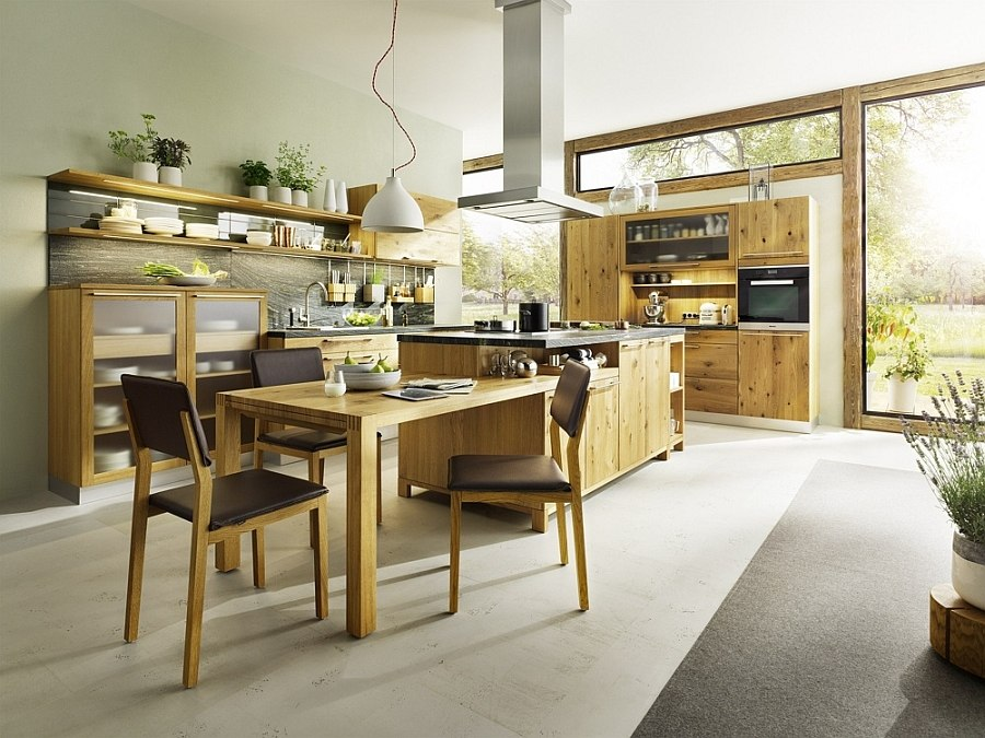 Modern Cottage Kitchen Design modern country cottage kitchen unravels a world of wood!