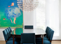 Gorgeous Raimond sets the stage for a beautiful transitional dining room