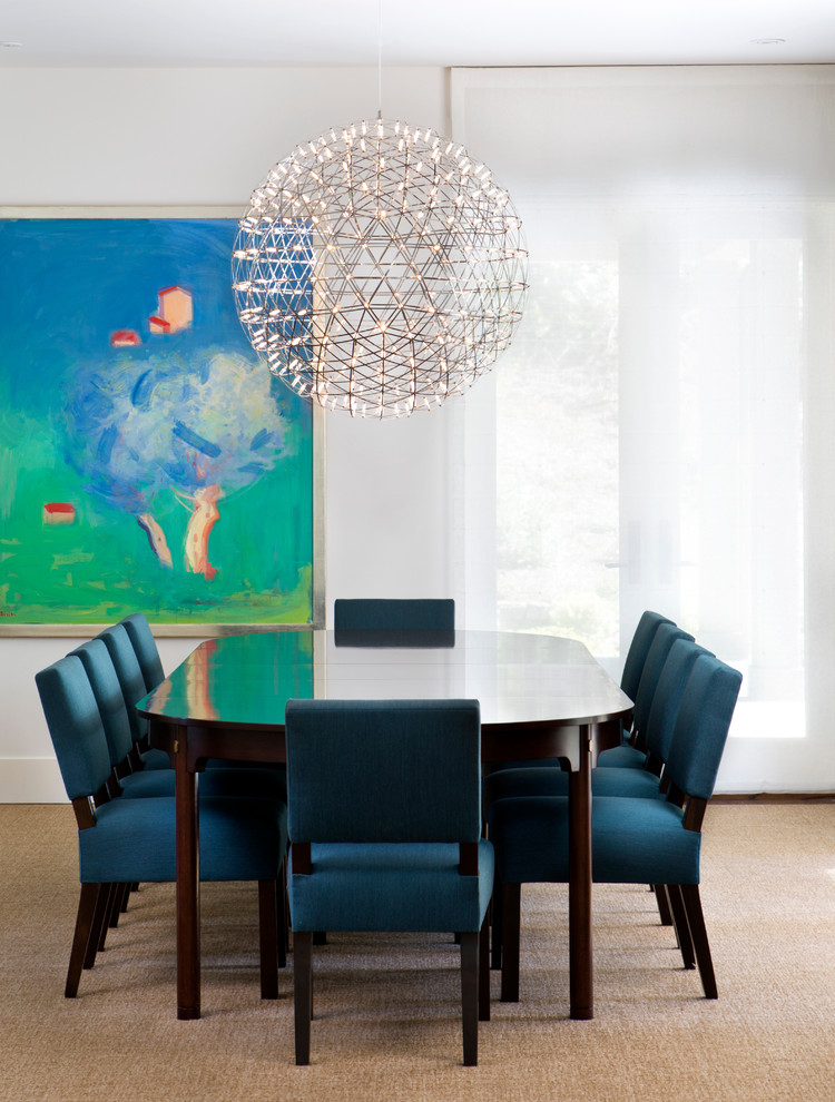 Gorgeous Raimond sets the stage for a beautiful transitional dining room [Design: Simpson Design Group Architects]