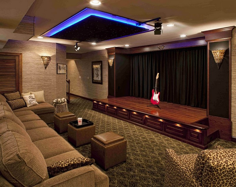 Gorgeous home theater includes a stunning stage [Design: Media Rooms]