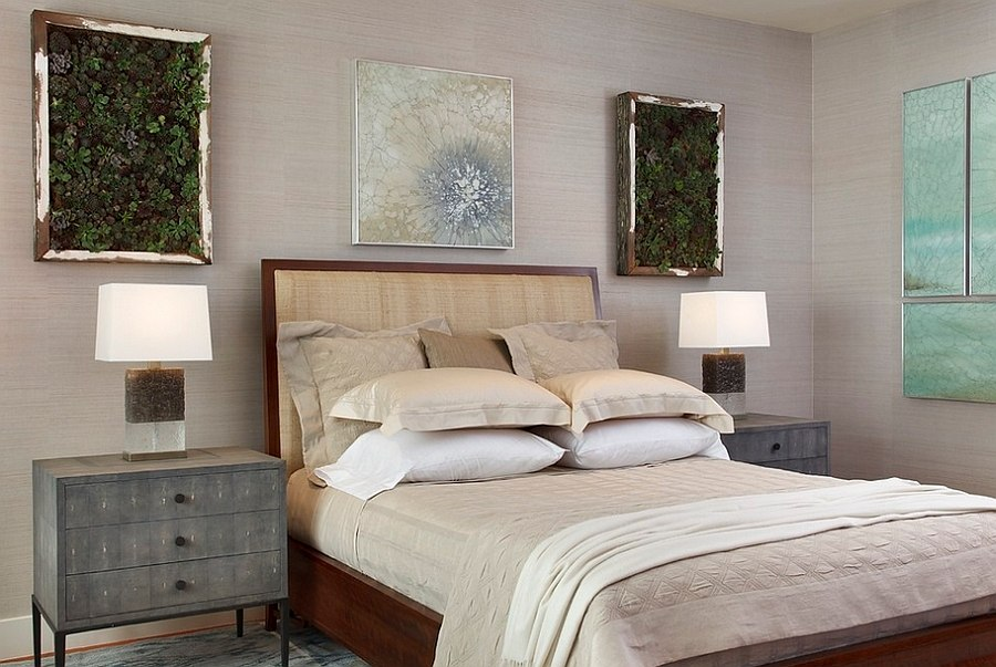 Gorgeous living wall installations in the bedroom [Design: Lindy Donnelly]